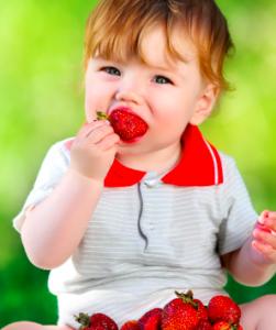 fragole bambino