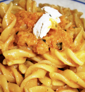 pasta robiola carota